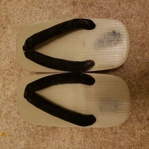 Geta traditional Japanese wooden sandals